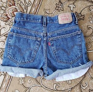 VINTAGE Levis 550 student fit cutoff shorts 16 26